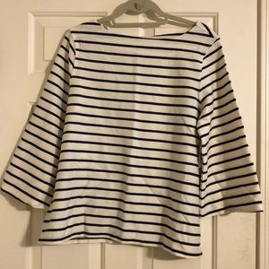 Old Navy blue and white striped shirt